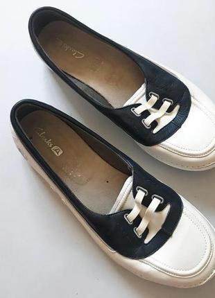 Невесомые женские мокасины туфли балетки clarks кожа