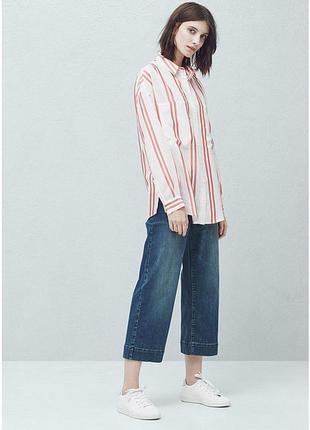 Рубашка в полоску от mango с карманами