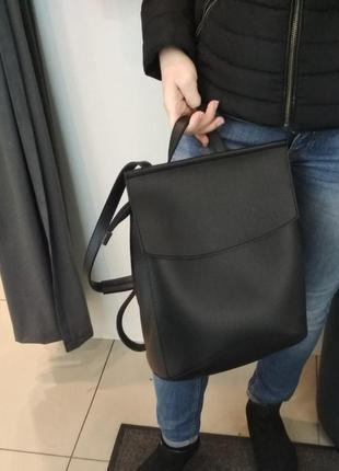 Рюкзак-сумка молодежный черного цвета
