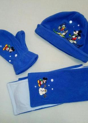 Сказочный набор от disney, шапочка, шарфик и варежки
