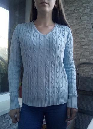 Базовая кофта свитер в косичку