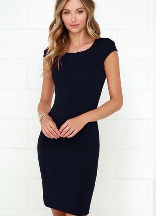 Обнова! платье футляр черное классика базовое офисное
