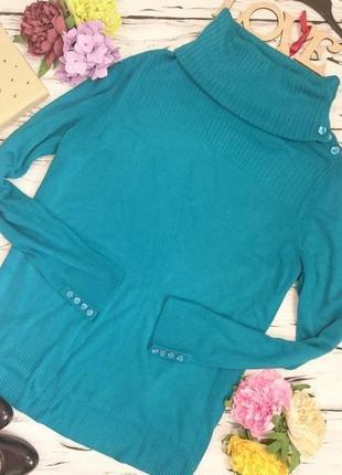 Красивый свитер цвета изумруда 16-18