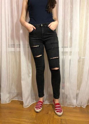 Супер стильные рваные джинсы
