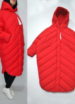 Пуховик одеяло  оверсайз кокон куртка зимняя био пух.1 фото