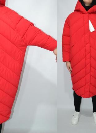 Пуховик одеяло  оверсайз кокон куртка зимняя био пух.5