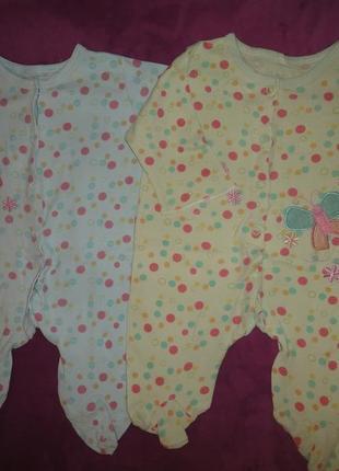 Хлопковые слипы пижамы человечки комбинезоны в роддом