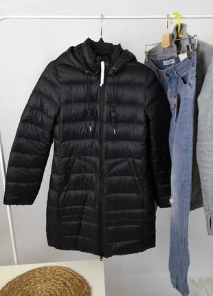 Черная куртка timberland down jacket оригинал размер s пуховая пух перо размер s