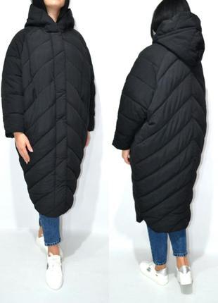 Пуховик одеяло  оверсайз кокон куртка зимняя био пух.