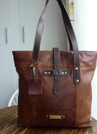 Кожаная сумка шоппер rowallan / шкіряна сумка