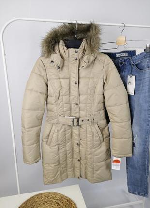 Tom tailor зимняя бежевая куртка парка размер xs-s