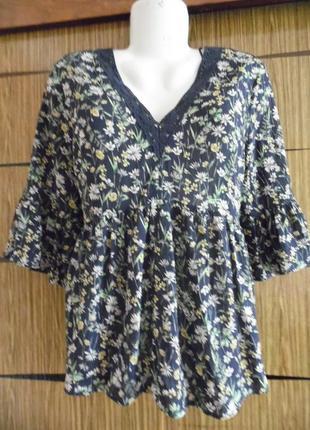 Блуза лето f&f размер 16 – идет на 50-52.