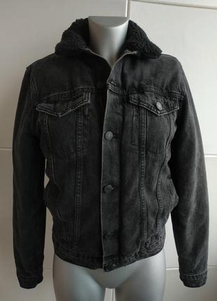 Утепленная джинсовая куртка new look men
