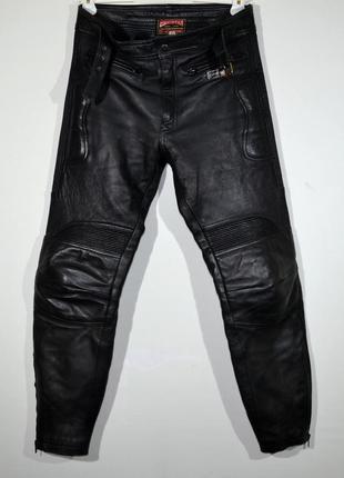 Кожаные мотоштаны skintan leather moto pants