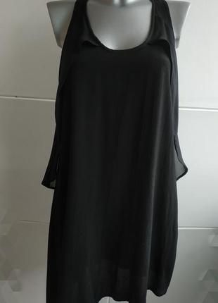 Платье- туничка  zara базового черного цвета