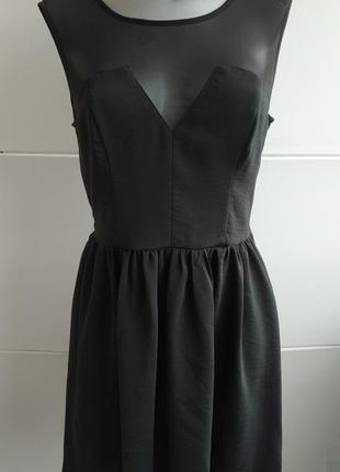 Оригинальное платье h&m из комбинированной ткани