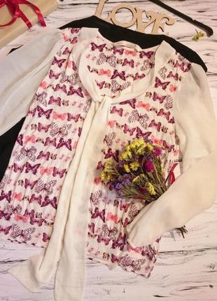 Вискозная кофточка в жуки и бабочки