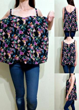 Красивая базовая блуза на тонких бретелях - спереди двойная 18