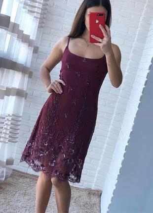 Нарядное вышитое платье
