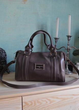 Французская кожаная сумка сумочка кросс боди lancaster из натуральной кожи