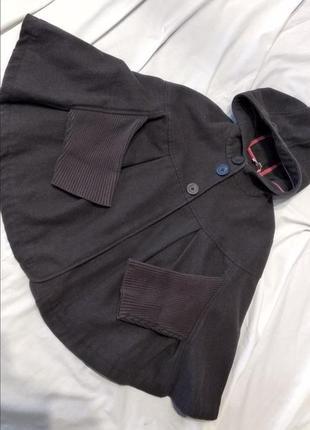 Оригинальное пальто пончо летучая мышь