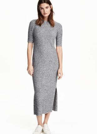 Красивое макси платье с разрезами в рубчик💣