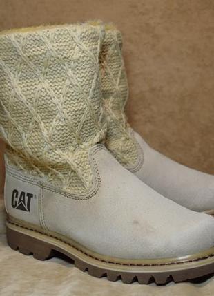 Ботинки сапоги зимние caterpillar bruiser scrunch fur угги. оригинал. 38 р./24 см.