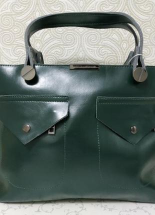 1a9c2ef0a72e Сумка из натуральной кожи victoria beckham 2018 2019 темно зеленая, женские  кожаные сумки1 ...