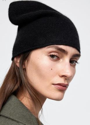 Zara новая стильная шапка из новой коллекции зима 2019 оригинал