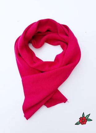 Яркий шарф теплый шарф малинового цвета