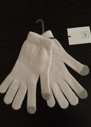 Перчатки мериносовая шерсть с эффектом touchscreen gap сша