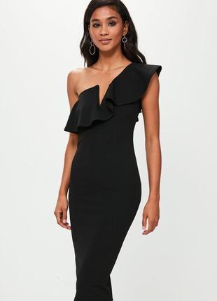 Missguided елегантна сукня-футляр на одне плече доставка сутки