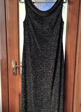Вечірня довга сукня з блискітками berkertex,р. 42-40