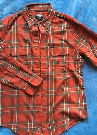 Фланелевая рубашка abercrombie&fitch