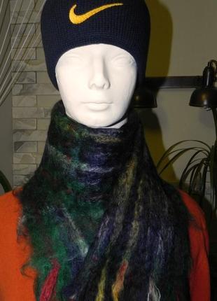 Большой шарф мохеровый нахар индия 130х28см