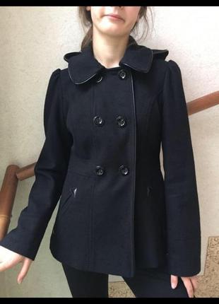 Очень милое пальто new look с капюшоном