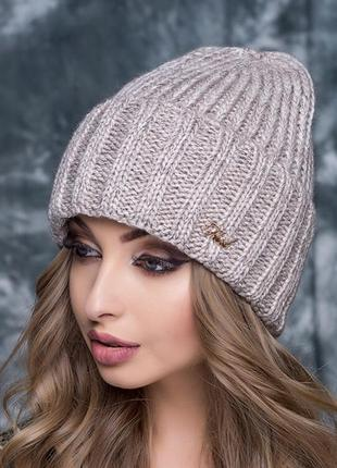 Тёплая шапка с флисовым утеплителем