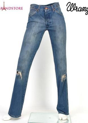 Модные женские джинсы wrangler rockville 29/34 стильные прямые рваные бойфренды с дырками