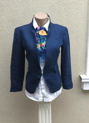 Летний,льняной жакет,пиджак,лен 100%,люкс бренд,оригинал,max mara