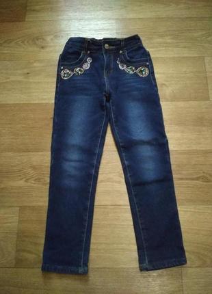 Утепленные джинсы для девочки.moyaberva.