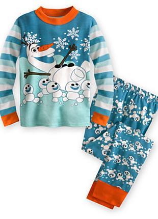 Пижама пижамка disney олаф frozen оригинал на 8-9лет1