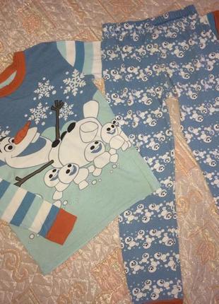 Пижама пижамка disney олаф frozen оригинал на 8-9лет4