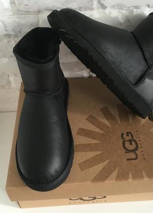 Ugg australia classic mini leather натуральные угги 35-41