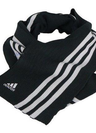 Шарф adidas performance essentials 3 stripes black 607803