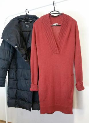 Теплое платье шерсть мохер