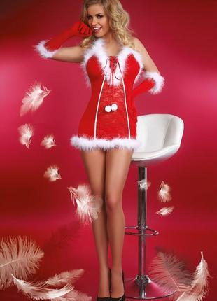Новогодний эротический костюм snow queen от livia corsetti польша р-ры s,m,l,xl