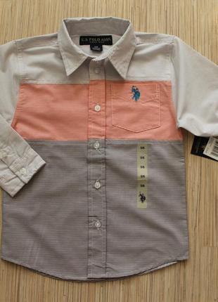 Рубашки u. s. polo оригинал сша - 4года, 5-6лет, 7лет