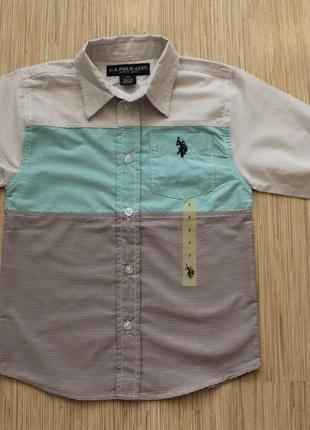 Рубашки u. s. polo оригинал сша - 5-6лет