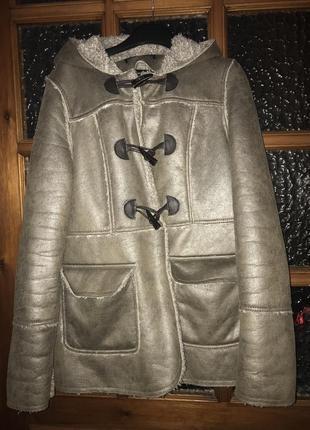 Модная перламутровая куртка дубленка new look 10-12!
