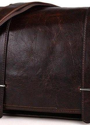 Сумка мужская vintage 14476 для документов формата а4 коричневая